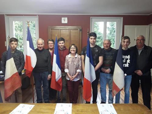 09.03.2018 Belleau - formation porte-drapeau