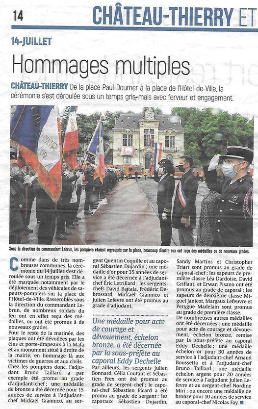 Article 14 juillet à Château-Thierry (02)