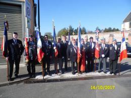 14.10.2017 Naours (62) Fête du St Patron des Porte-drapeaux