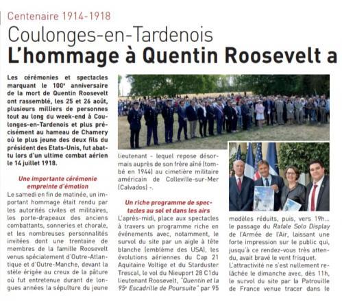 25, 26.08.2018 Centenaire Quentin Roosevelt