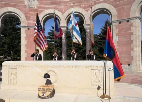 17.09.2018 : hommage au 370è R.I de l'Illinois (USA)