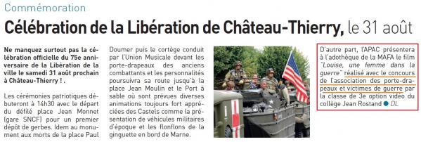 31.08.2019 libération Château Thierry