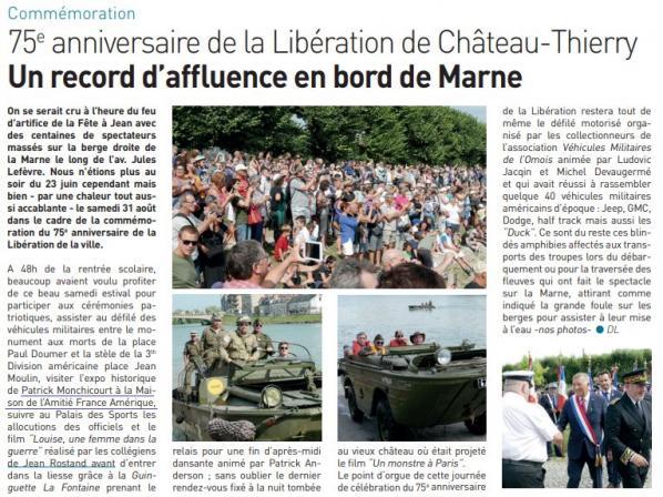 74e anniversaire Libération Château Thierry