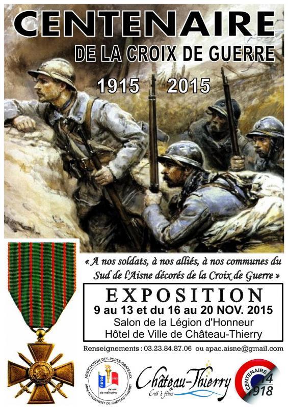 Exposition Centenaire Croix de Guerre