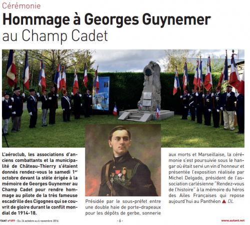 Hommage à Georges Guynemer
