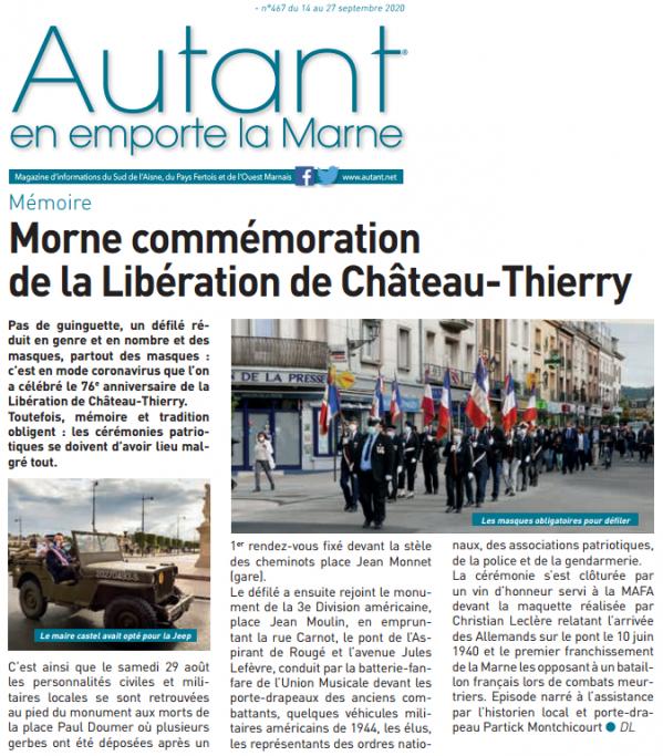 Article autant.net - libération de Chateau Thierry