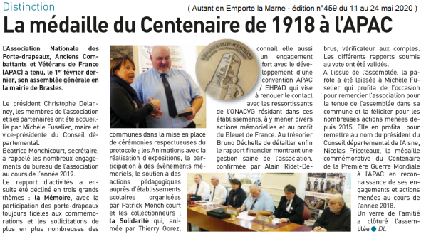Article autantenemportelamarne - 11.05.2020 - APAC