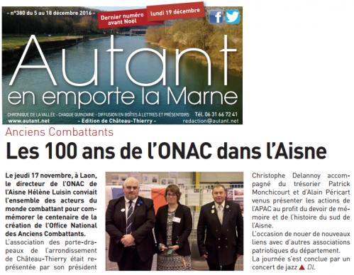 100 ans de l'ONAC - Laon
