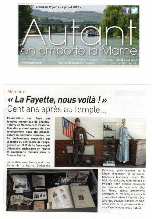 Exposition Centenaire AEF en France - Temple Château Thierry