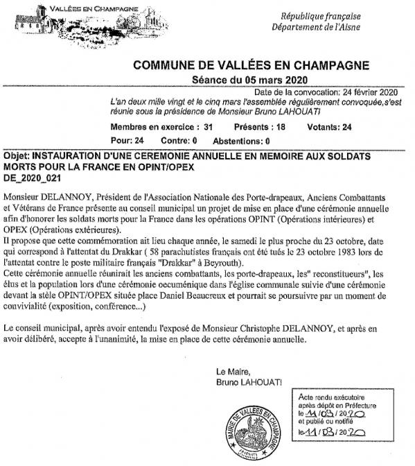 Delibération Vallées en Champagne