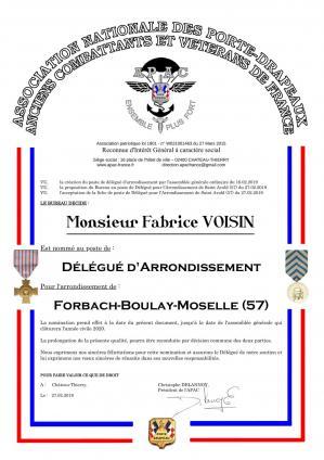 diplôme Fabrice VOISIN