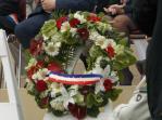 29.05.2016 : Memorial Day Belleau - Gerbe de fleurs déposée au nom de tous les porte-draperaux