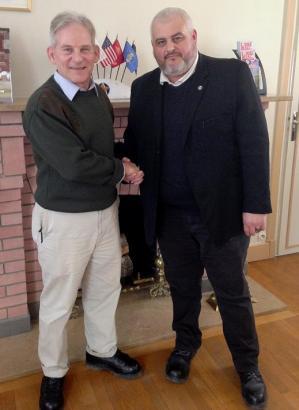 Hubert Caloud, Surintendant Cimetière Oise-Aisne (gauche), Christophe Delannoy, Président APAC (droite)