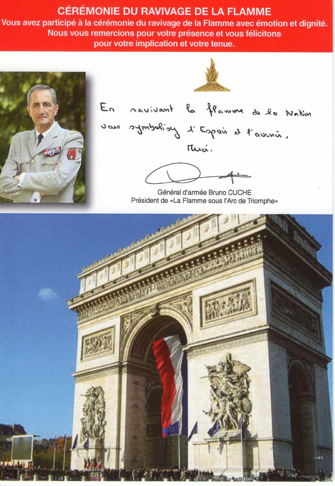 Sortie parisienne ravivage de la flamme - Port de la tenue militaire en retraite ...