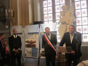 Eric Cayol, sous-préfet - Jacques Krabal, député Maire - Bruno Bauvois, conseiller départemental