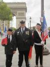 G à D : Alexy Delannoy (porte-drapeau APAC), Christophe Delannoy (Pdt APAC), Clara Frère (porte-drapeau titulaire APAC)