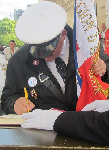 Signature du registre Memorial Day