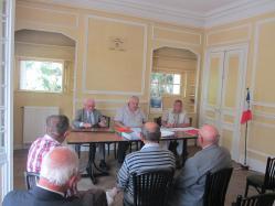 G à D : Georges Pottier, Président d'Honneur - Christophe Delannoy, Président de l'APAC, Patrick Monchicourt, Trésorier