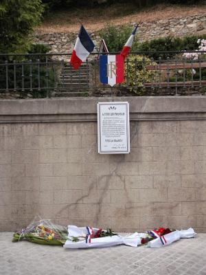 La plaque du Général de Gaulle