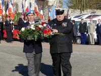 Dépot de Gerbe : Laurent Attar Bayrou, Christophe Delannoy