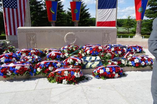 27.05.2018 : Memorial Day, cimetière Oise-Aisne de Seringes et Nesles
