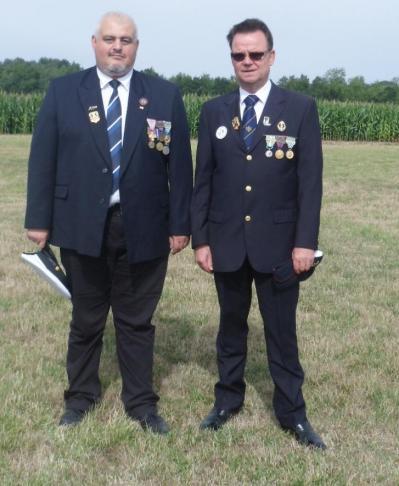 Christophe Delannoy, Pdt de l'APAC (gauche) - Marcel Dartinet, Pdt de la délégation Oise-Aisne (droite)