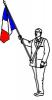 Silhouette porte drapeau